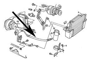 Air Conditioning,Accumulator Hose,C4 Corvette,1984,5.7L