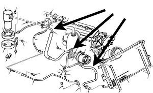 Air Conditioning,Compressor Hose,C5 Corvette,1997-04,5.7