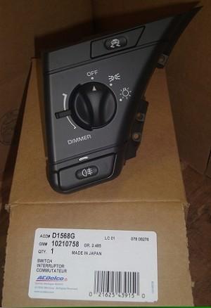 Volkswagen Jetta Parts >> Headlight Switch,C4 Corvette,1994-96,*NOS
